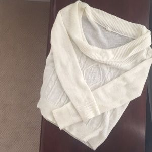 Cream, large neck sweater